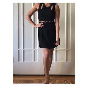 Black H&M cut-out dress